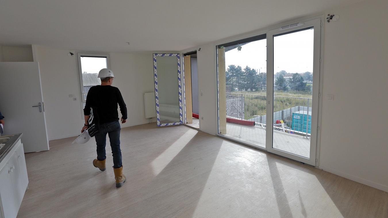 Visite d'un chantier de logement neuf