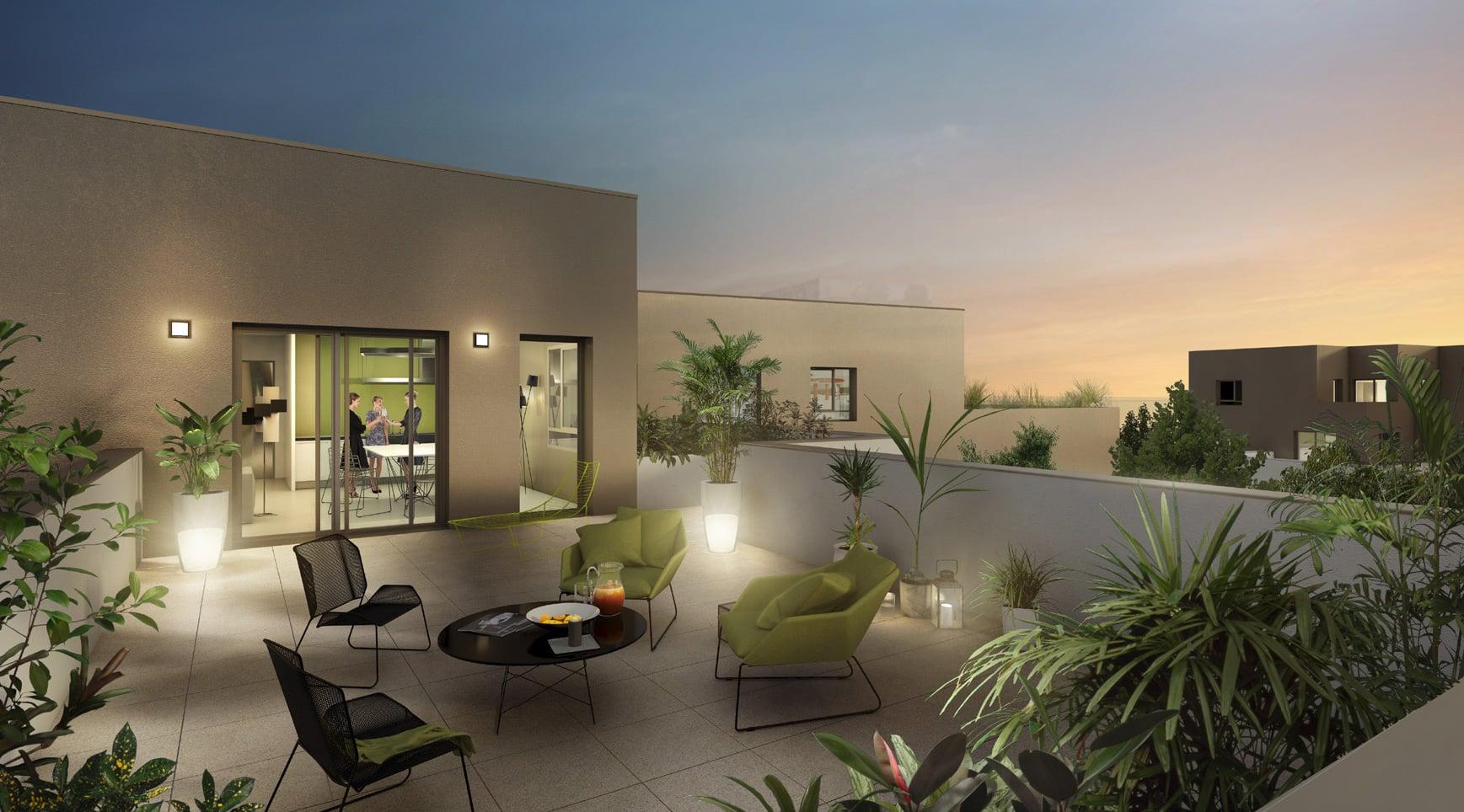 Une terrasse d'appartement neuf