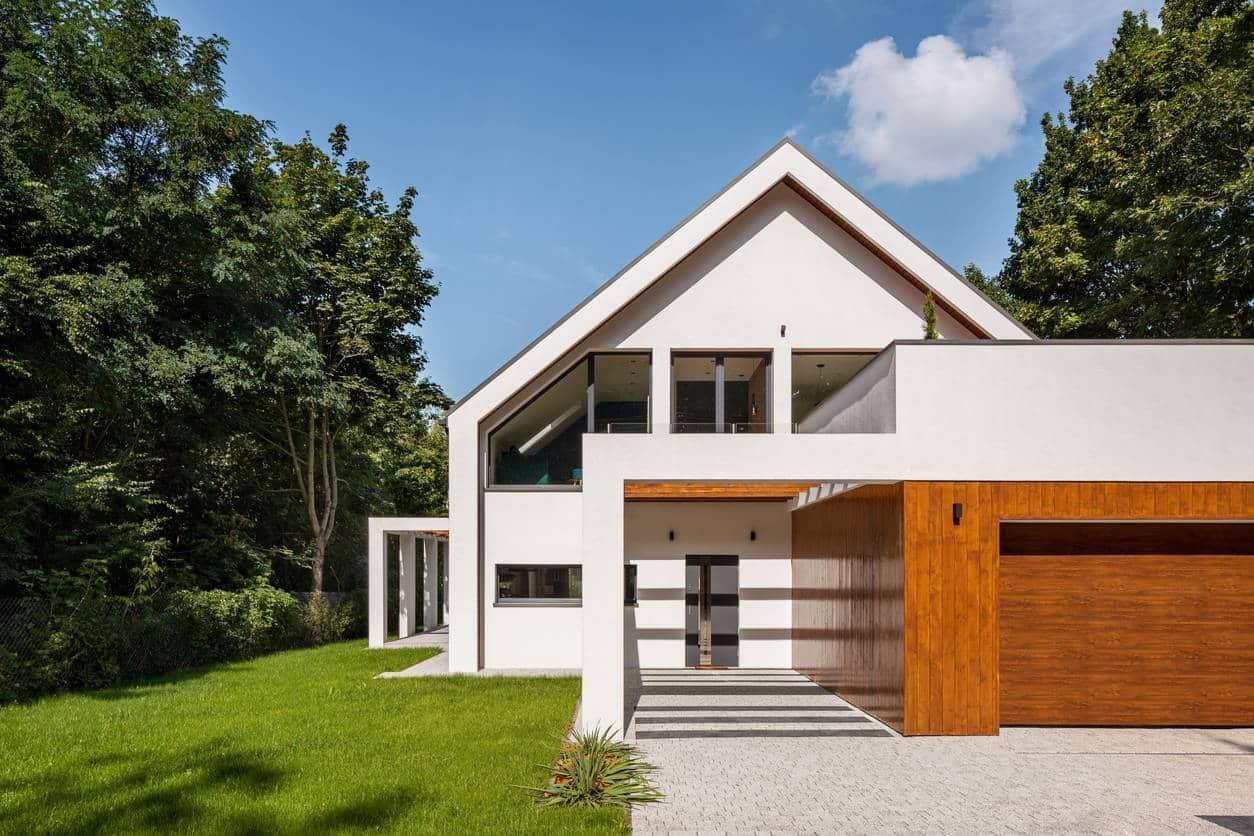 maison moderne volets roulants
